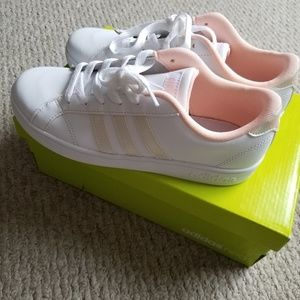 New Adidas Baseline Coral White Sneakers